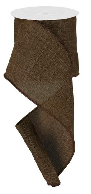 "Brown Royal Faux Burlap Ribbon - 4"" x 10Yd"
