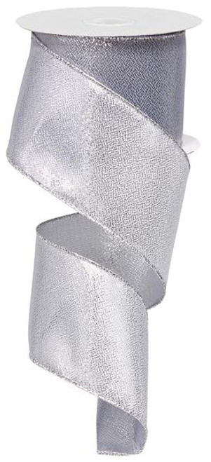 "Solid Metallic Silver Ribbon 2.5"" x 10Yds"