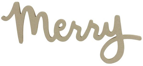 "16"" Unfinished Merry Sign"