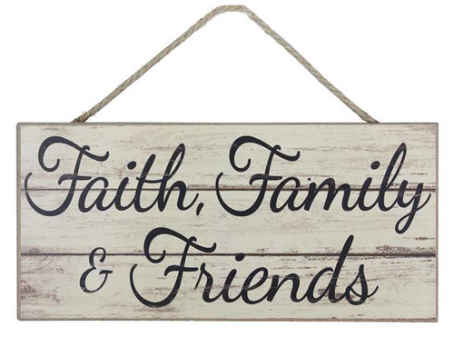 "12.5"" Faith, Family & Friends Sign"