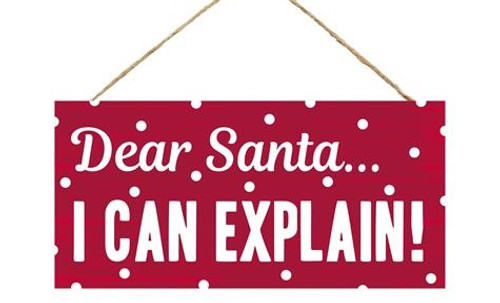 "12.5"" Santa I Can Explain Sign"
