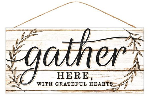 "12.5"" Rustic Gather Here Sign"