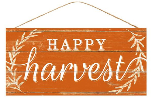 "12.5"" Happy Harvest Sign"