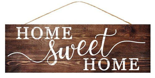 "15"" Home Sweet Home Sign: Natural/White"