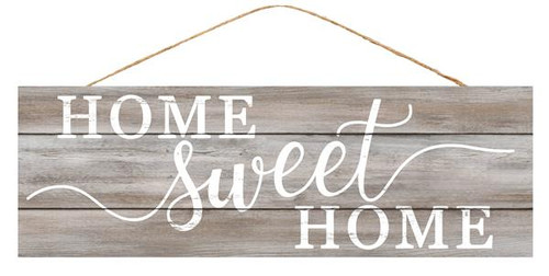 "15"" Home Sweet Home Sign: Grey Wash/White"