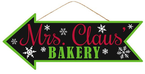 "16"" Mrs. Claus Bakery Arrow Sign"
