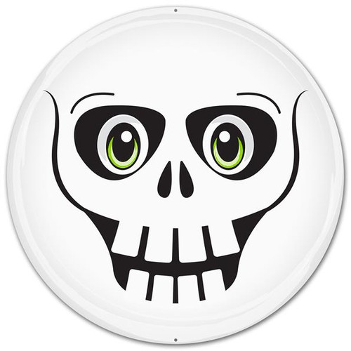 "12"" Metal Skeleton Face"