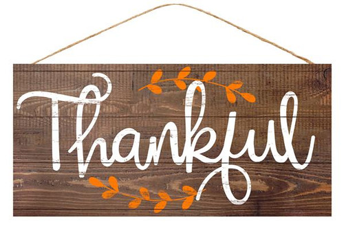 "12.5"" Fall Thankful Sign"
