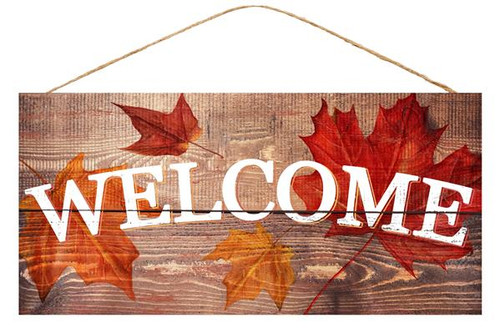 "12.5"" Fall Welcome Sign"