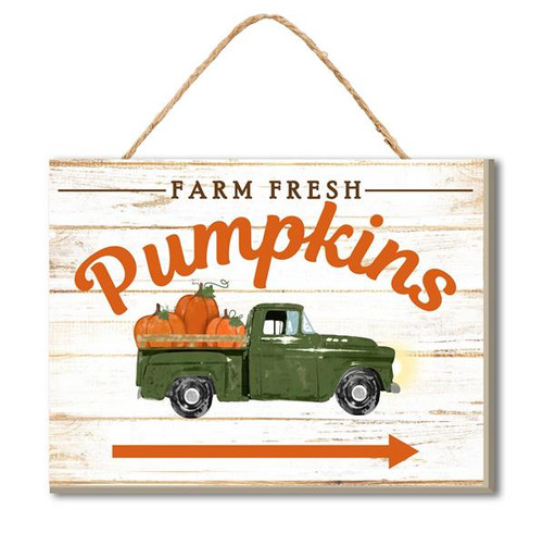 "6"" Farm Fresh Pumpkins Truck Sign"