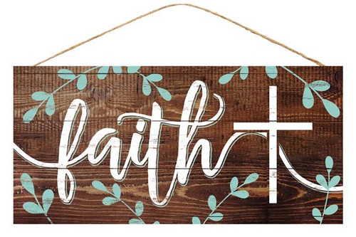 "12.5"" Faith with Cross Sign"