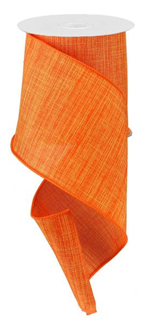 "Orange Royal Faux Burlap Ribbon - 4"" x 10Yd"