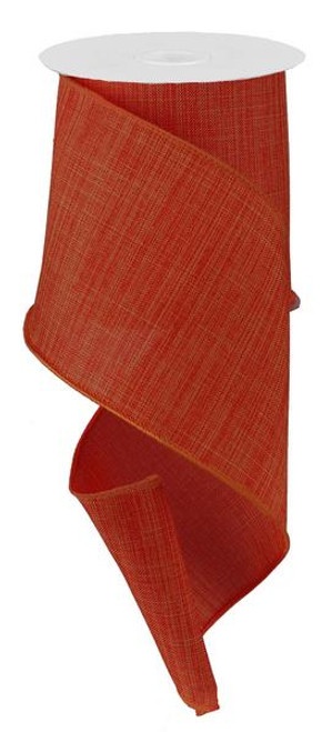 "Rust Royal Faux Burlap Ribbon - 4"" x 10Yd"