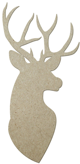 "14"" MDF Deer Head, Unfinished"