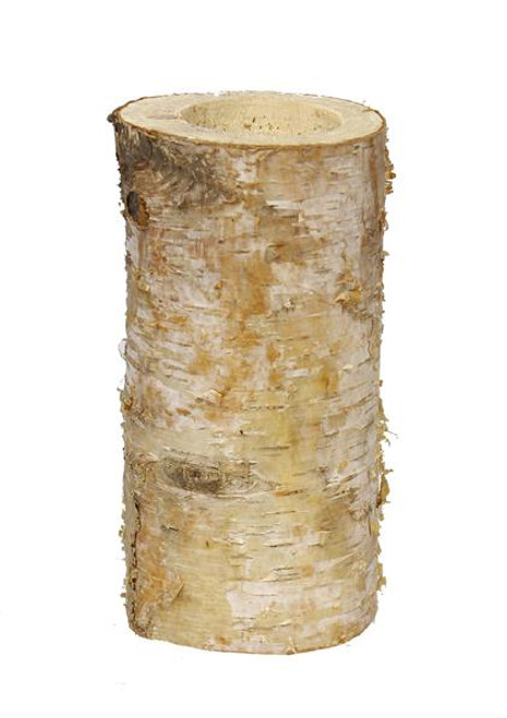 "8"" Birch Log Candle Holder"