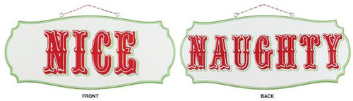 "11.5"" Reversible Naughty & Nice Sign"