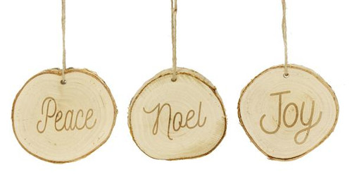 Birch Christmas Word Ornaments
