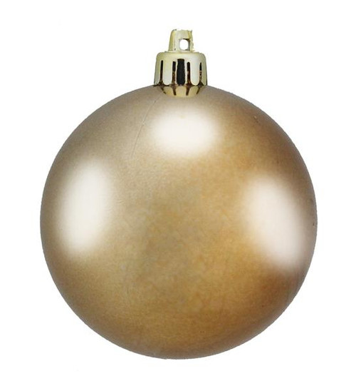 80mm Smooth Plastic Ball Ornament: Shiny Sable