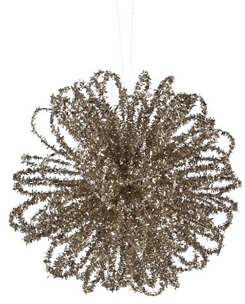 "4"" Champagne Loop Ball Ornament"