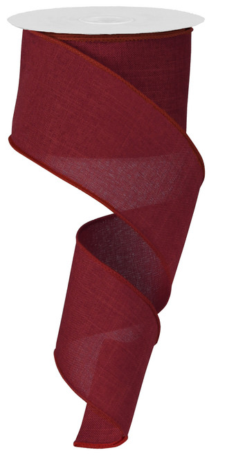 "Burgundy Royal Faux Burlap Ribbon - 2.5"" x 10Yd (RG127905)"