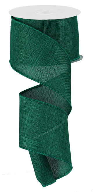 "Emerald Royal Faux Burlap Ribbon - 2.5"" x 10Yd (RG127906)"