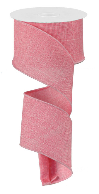 "Pink Royal Faux Burlap Ribbon - 2.5"" x 10Yd (RG127922)"