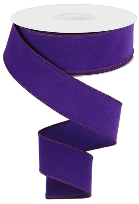 "1.5"" Indoor Velvet Ribbon: Purple - 10yds"