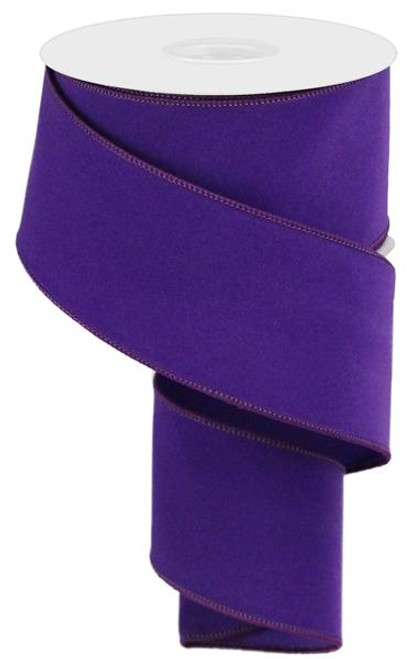 "2.5"" Indoor Velvet Ribbon: Purple - 10yds"