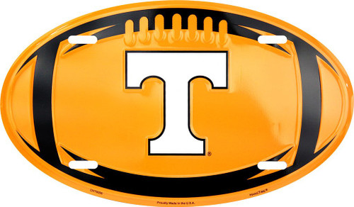 University of Tennessee Embossed Metal Oval License Plate