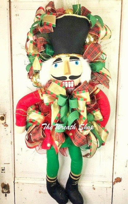 Christmas Nutcracker Wreath Swag