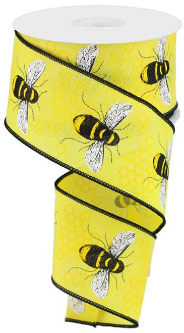 "2.5"" Honey Bee Ribbon: Yellow"
