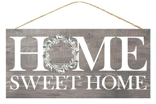 "12.5"" Home Sweet Home Sign: Gray"
