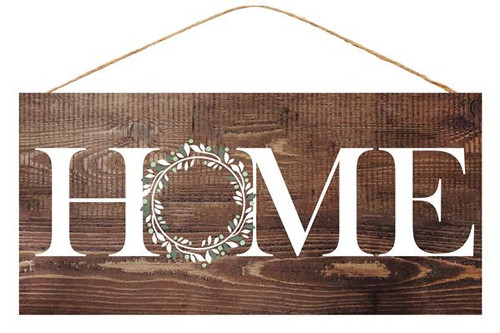 "12.5"" Home Sweet Home Sign: Brown"