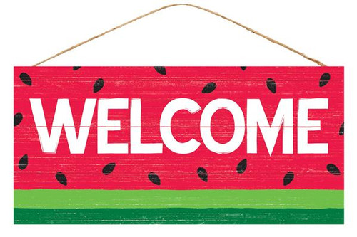 "12.5"" Welcome Watermelon Sign"