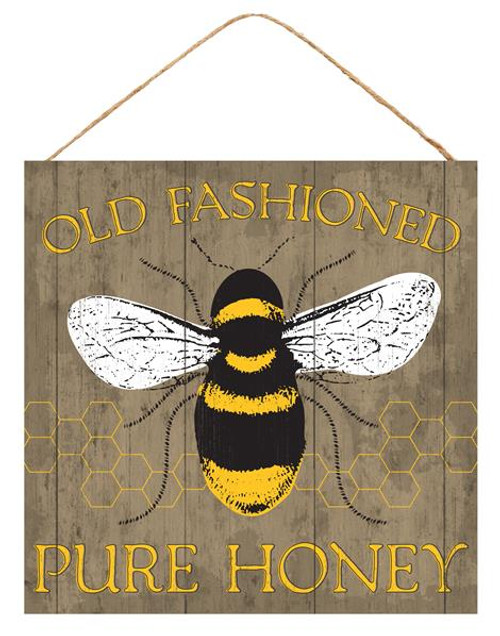 "10"" Old Fashioned Honey Bee Sign"