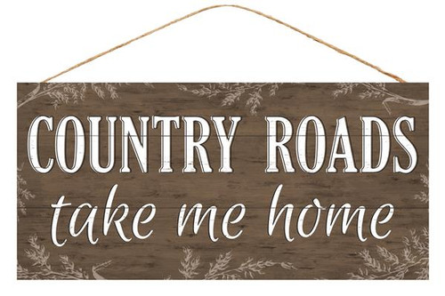 "12.5"" Country Roads Sign"