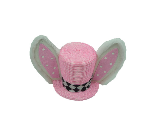 Pink Glitter Bunny Hat Stand