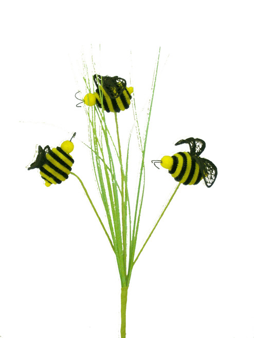 "24"" Honey Bee Spray with Grass"