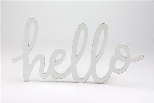 "14"" Hello Sign: White"