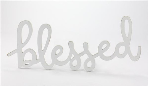 "17"" Blessed Sign: White"