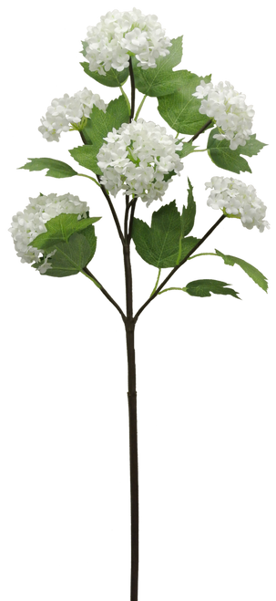"25"" Snowball Hydrangea Spray: White (6)"