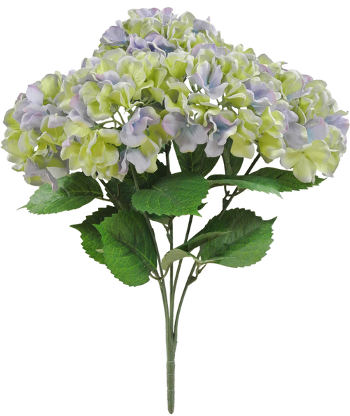 "20"" Hydrangea Bush: Purple/Green (5)"