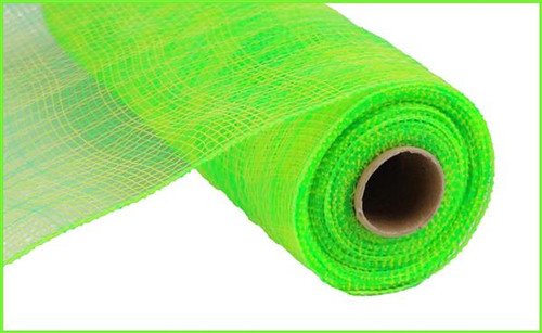 "10"" Deco Poly Mesh: Multi Stripe Lime Green/Green"