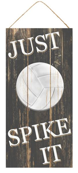 "12.5"" MDF Just Spike It Volleyball Sign"