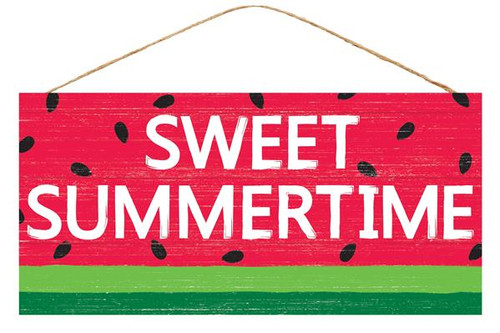 "12.5"" Sweet Summertime Watermelon Sign"