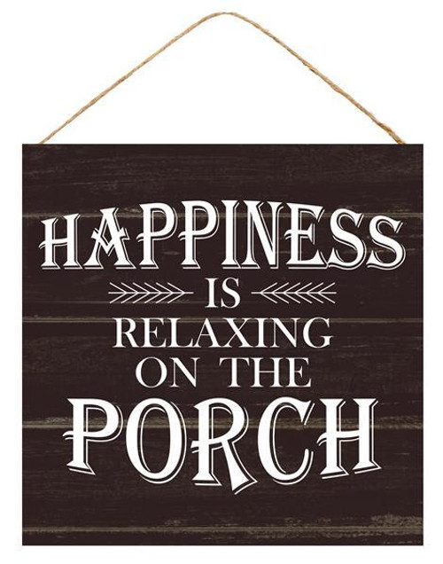 "10"" Happiness on Front Porch Sign"