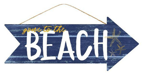 "16"" Gone to the Beach Arrow Sign"