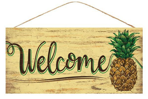 "12.5"" Welcome Pineapple Sign"