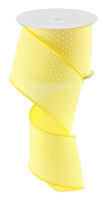 "2.5"" Raised Swiss Dot Ribbon: Yellow - 10yd"