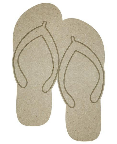 "13"" Flip Flop Cutout, Unfinished"